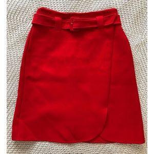 Halogen a-line midi belted skirt sz 12P